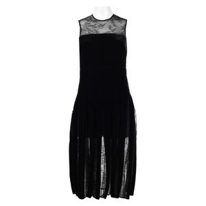 Velvet and Lace Little Black Dress (771491/Black)
